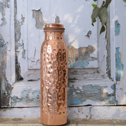 Forrest & Love: Hammered Copper Water Bottle (900ml)