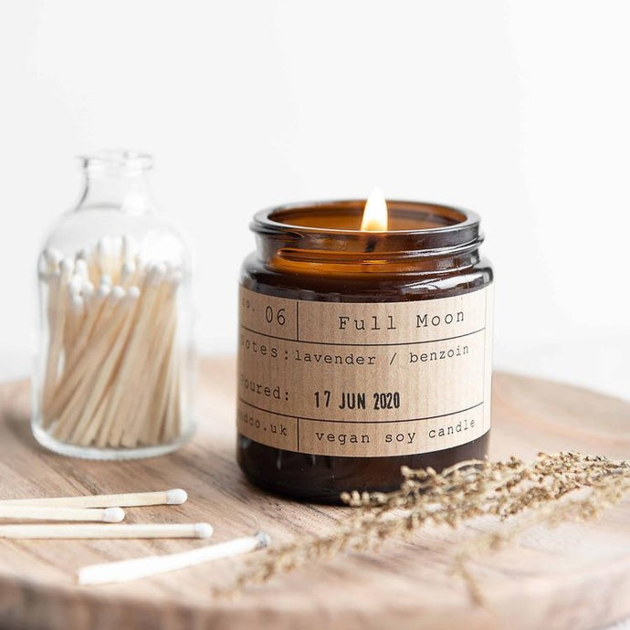 Full Moon Soy Wax Candle - 20h - Life Before Plastik