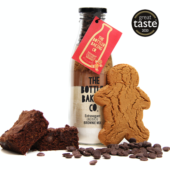 Bottled Baking Co Extravagant Gingerbread Brownie Mix - Life Before Plastik