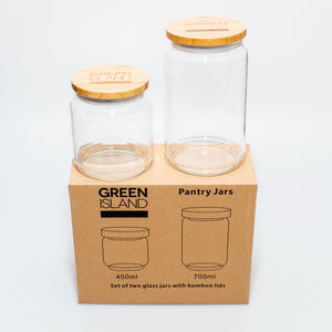 Green Island Pantry Jars - Set of 2 - Life Before Plastik