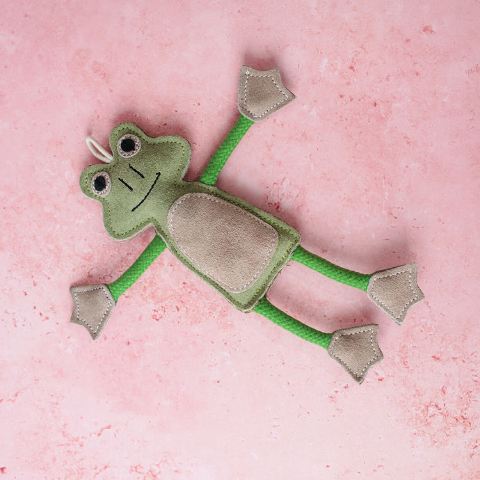 Green & Wilds Francois Le Frog - Dog Toy - Life Before Plastik