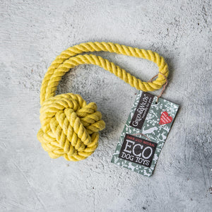 Green & Wilds Rope Ball - Dog Toy - Life Before Plastik