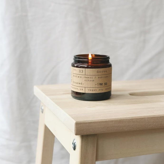 Grove Soy Wax Candle - 20h - Life Before Plastik