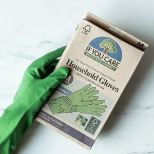 Natural Rubber Household Gloves - Size M - Life Before Plastik