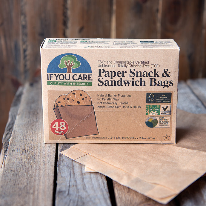 Paper Snack & Sandwich Bags - Life Before Plastik