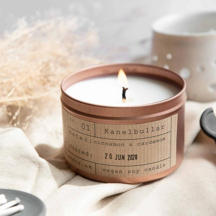 Kanelbullar Soy Wax Candle - 35h - Life Before Plastik