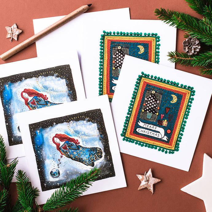 Kat Williams Christmas Card Mixed Pack - Life Before Plastik