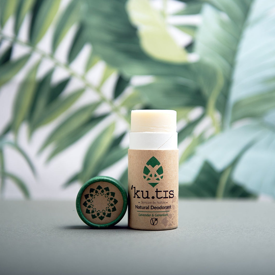 Vegan Natural Deodorant Stick: Lavender & Geranium - Life Before Plastik