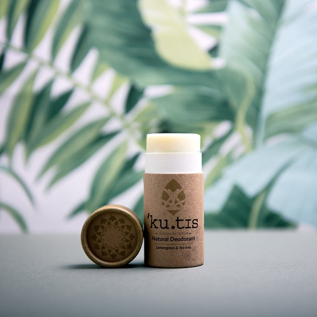 Natural Deodorant Stick: Lemongrass & Tea Tree - Life Before Plastik