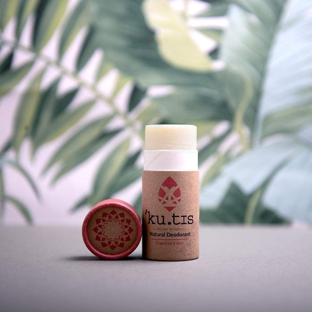 Natural Deodorant Stick: Rose & Grapefruit - Life Before Plastik