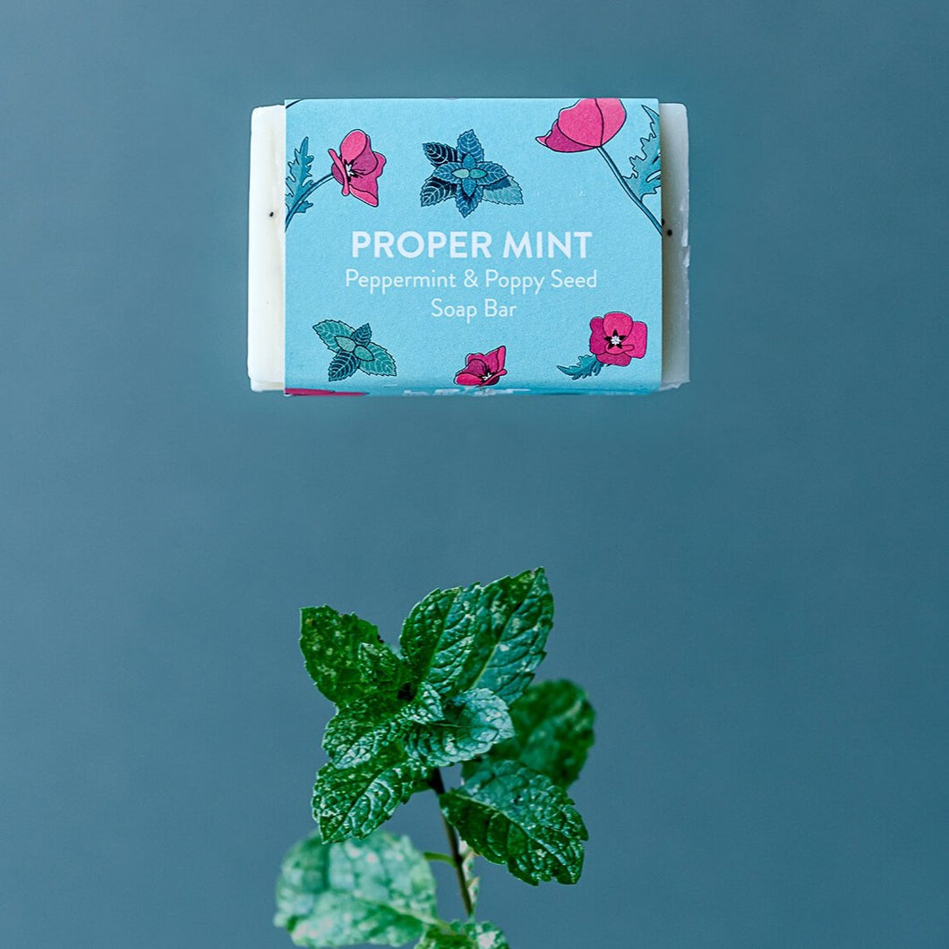 Life Before Plastik 'Proper Mint' Peppermint Soap Bar