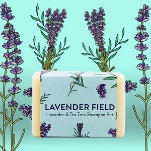 Lavender & Tea Tree Shampoo Bar - Life Before Plastik