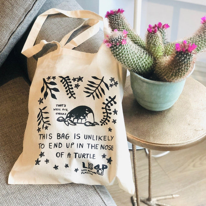 Organic Cotton Tote Bag - Life Before Plastik