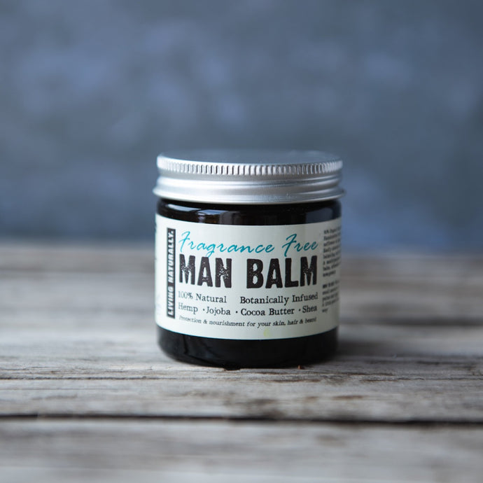 Man Balm Moisturiser - Unscented - Life Before Plastik