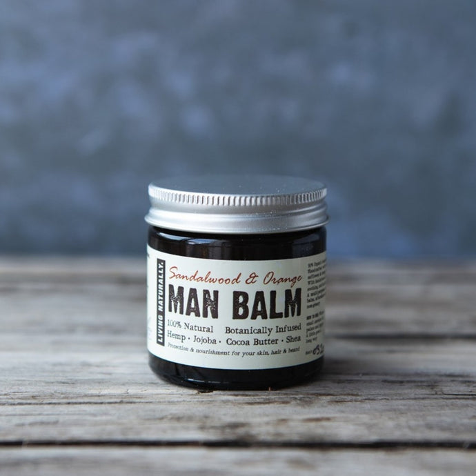 Man Balm Moisturiser - Sandalwood & Orange - Life Before Plastik