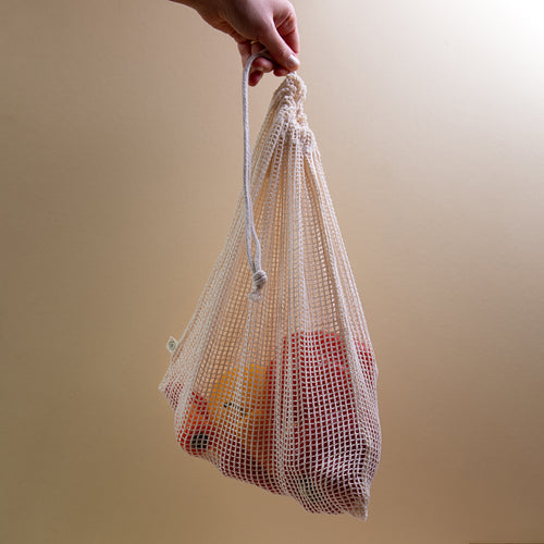 Slice of green Mesh Produce Bag