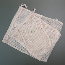Load image into Gallery viewer, x3 Mesh Produce Bags - Mixed Sizes - Life Before Plastik