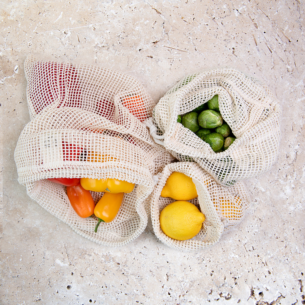 Slice of Green x3 Mesh Produce Bags - Mixed Sizes