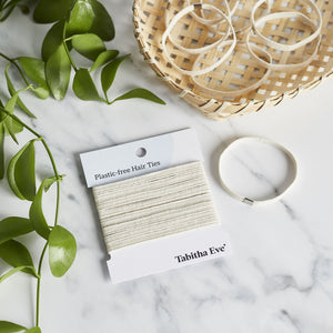 Natural Cotton Hair Ties - Tabitha Eve - Life Before Plastik