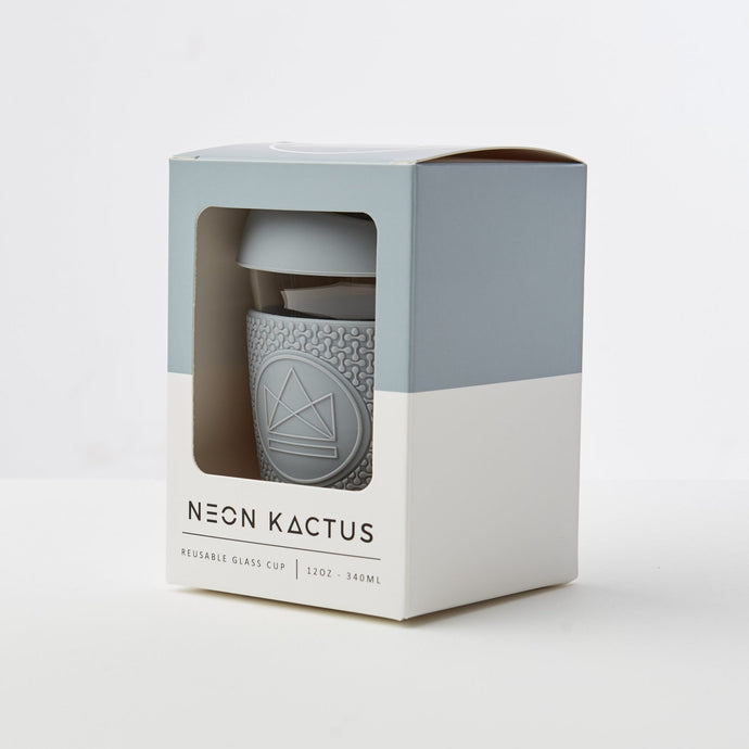 Reusable Glass Coffee Cup - Grey - Life Before Plastik