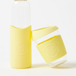 Reusable Glass Coffee Cup - Yellow - Life Before Plastik