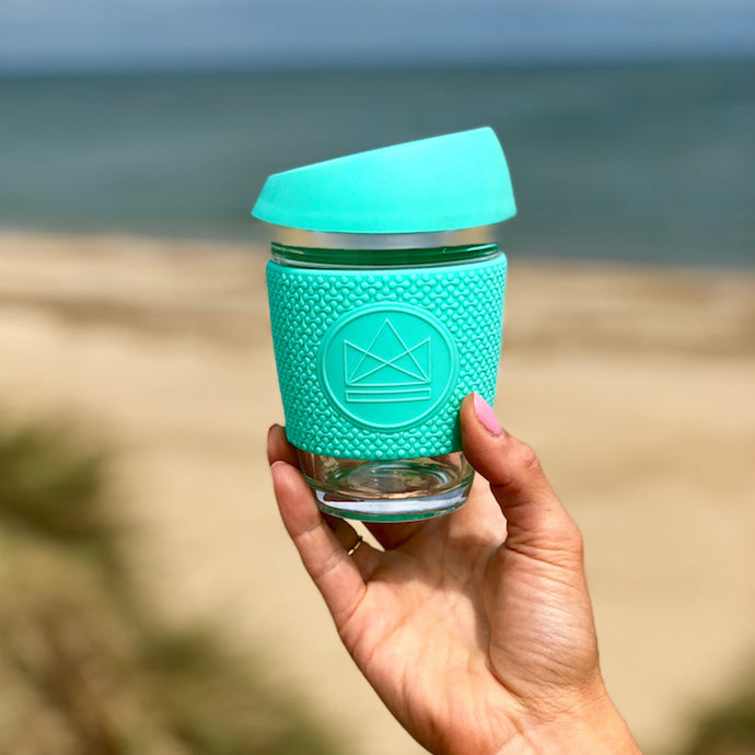 Reusable Glass Coffee Cup - Green - Life Before Plastik