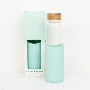 Neon Kactus Glass Water Bottle - Green - Life Before Plastik