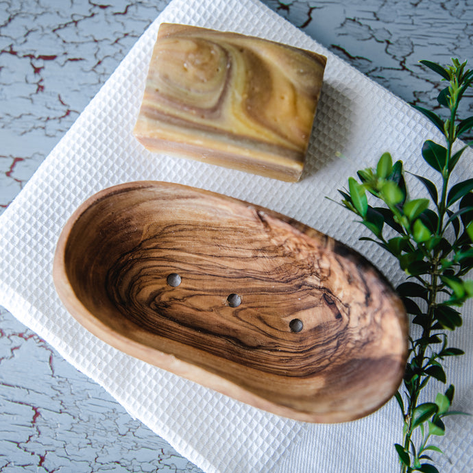 Olive Wood Soap Dish - Life Before Plastik