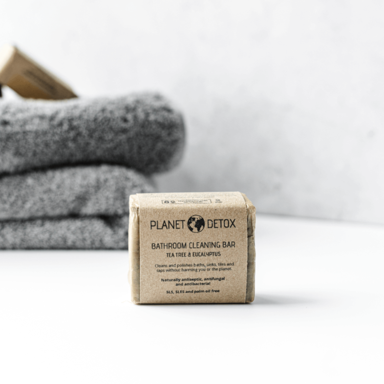 Planet Detox Bathroom Cleaning Bar - Tea Tree & Eucalyptus - Life Before Plastik