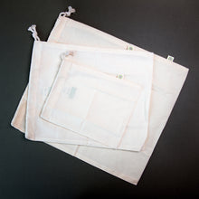 Load image into Gallery viewer, x3 Cotton Produce Bags - Mixed Sizes - Life Before Plastik