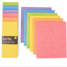 Load image into Gallery viewer, Rainbow Compostable Cleaning Sponges - 6 pack - Life Before Plastik