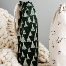 Load image into Gallery viewer, Festive Forest Reusable Bottle Bag - Tabitha Eve - Life Before Plastik