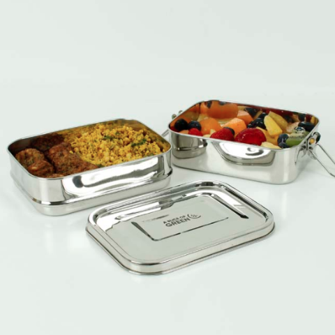 Slice of Green Leak Resistant Two Tier Lunch Box