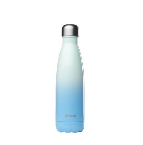 Qwetch Stainless Steel Water Bottle (500ml) - Sky Blue
