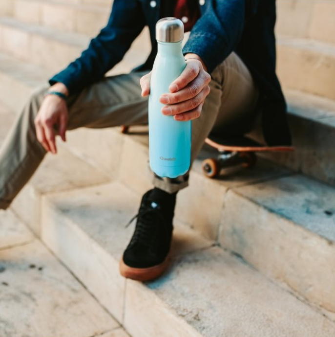 Stainless Steel Water Bottle (500ml) - Sky Blue