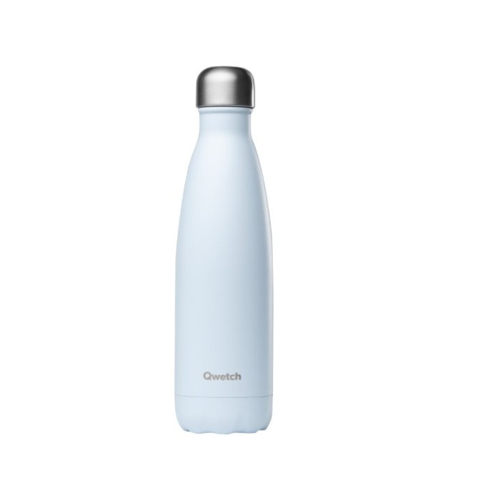 Qwetch Stainless Steel Water Bottle (500ml) - Pastel Blue