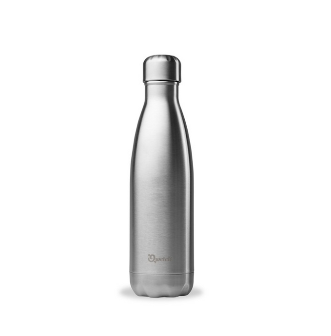 Stainless Steel Water Bottle (500ml) - Chrome - Life Before Plastik