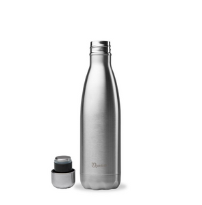 Qwetch Stainless Steel Water Bottle (500ml) - Chrome