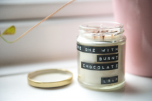Load image into Gallery viewer, The One With Burnt Chocolate - Soy Wax Candle (190ml)
