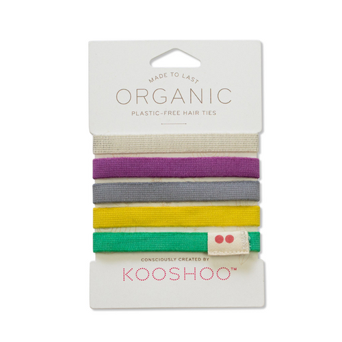 Kooshoo Plastic Free Hair Ties - Multi Coloured