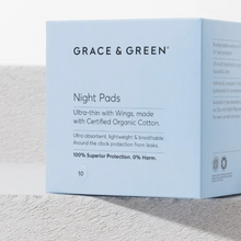 Load image into Gallery viewer, Organic Cotton Night Pads - Life Before Plastik