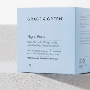 Organic Cotton Night Pads - Life Before Plastik