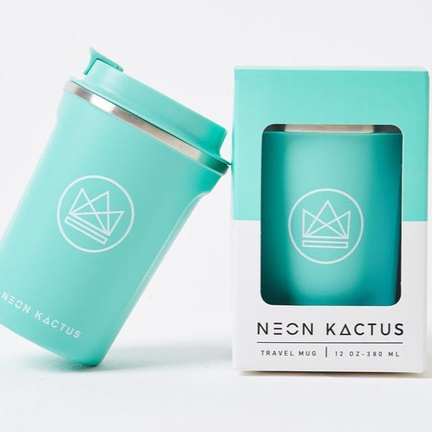 Neon Kactus Stainless Steel Coffee Cup - Green - Life Before Plastik