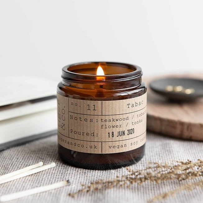 Tabac Soy Wax Candle - 20h - Life Before Plastik