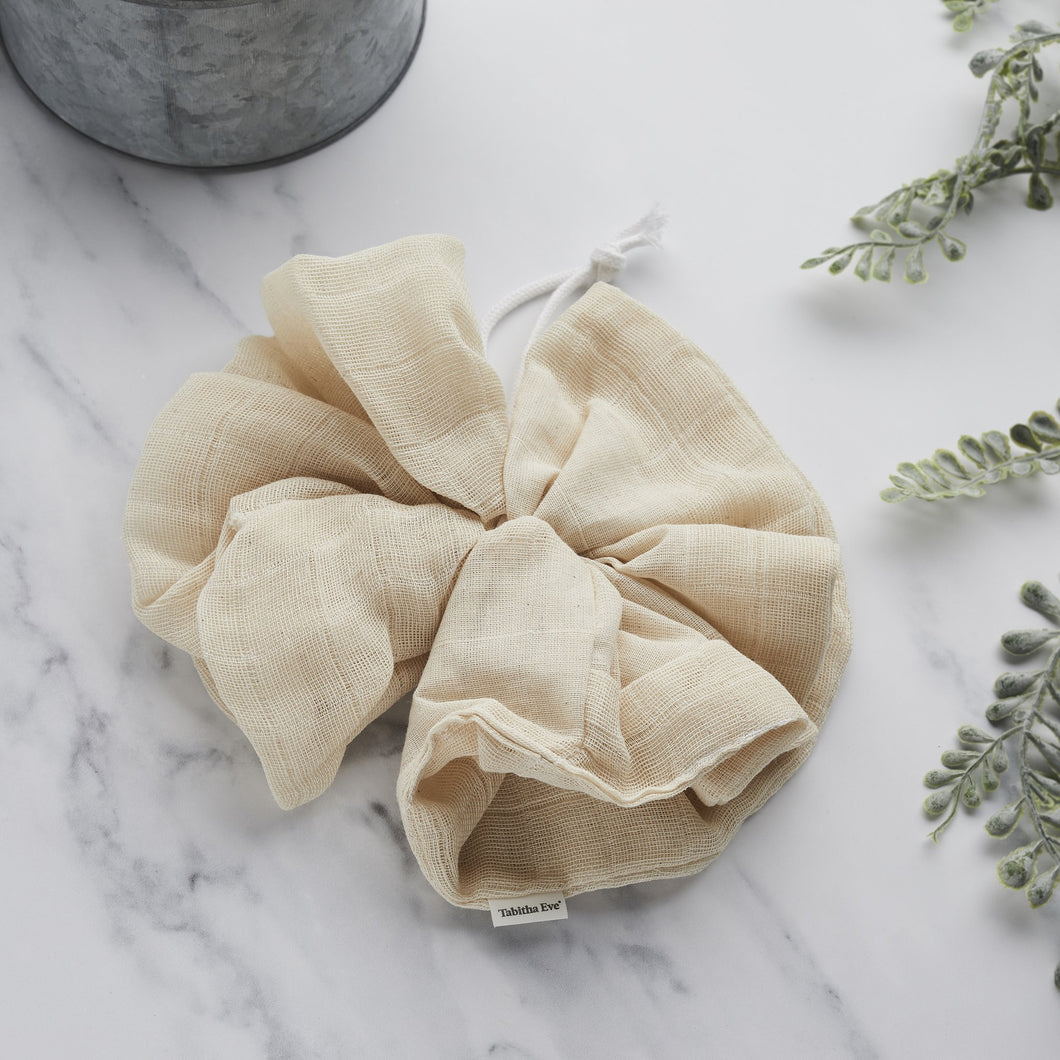 Organic Cotton Bath Pouf - Life Before Plastik