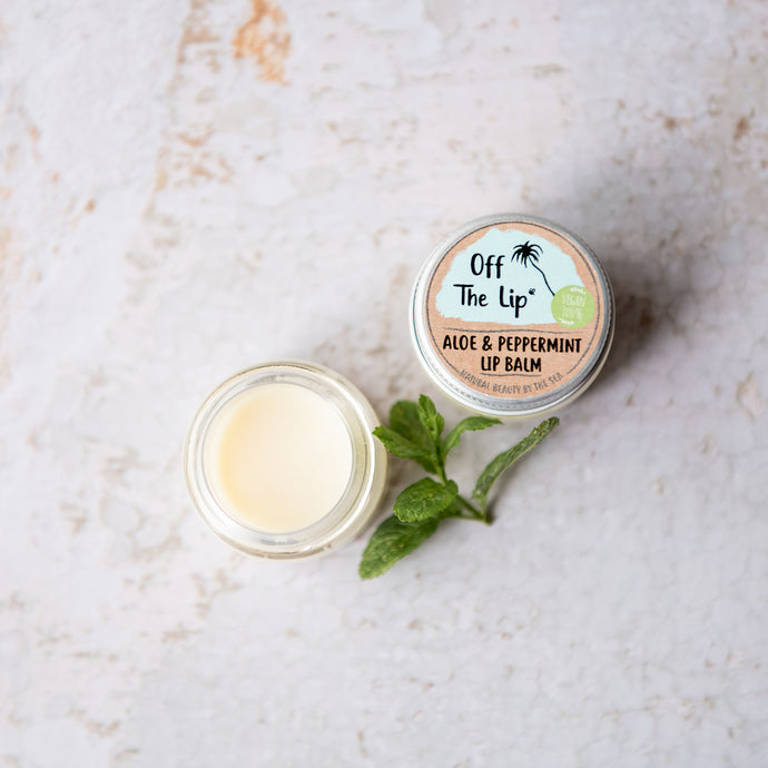 Vegan Aloe & Peppermint Lip Balm - Life Before Plastik