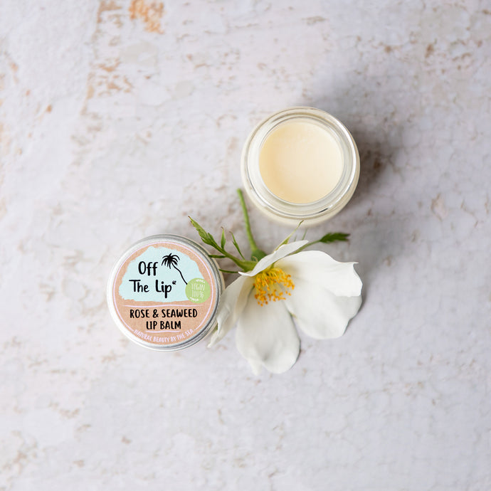 Vegan Rose & Seaweed Lip Balm - Life Before Plastik