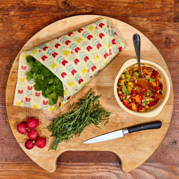 Tulip Organic Cotton Beeswax Food Wrap (Mixed Sizes) - Life Before Plastik