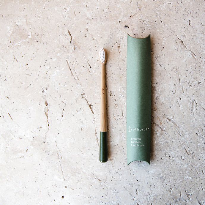 Bamboo Toothbrush (Moss Green) - Life Before Plastik