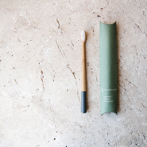 Bamboo Toothbrush (Storm Grey) - Life Before Plastik